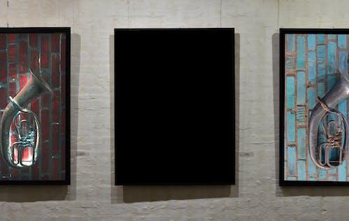 Základová fotografie zdarma na téma černá, galerie, maketa, malování