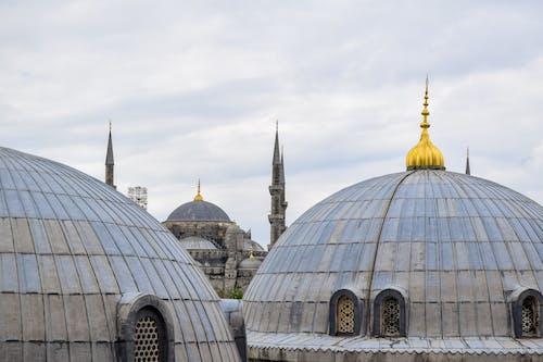 Foto stok gratis Arsitektur, awan, hagia sophia, Istanbul