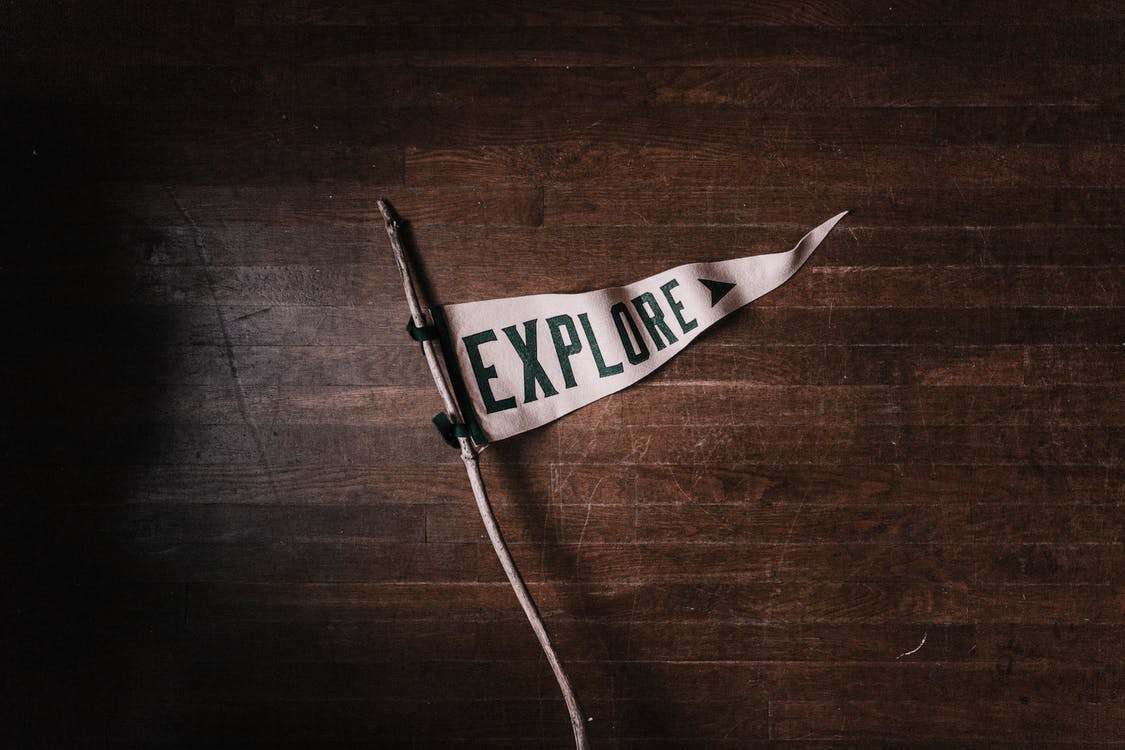 flagga, ord, utforska