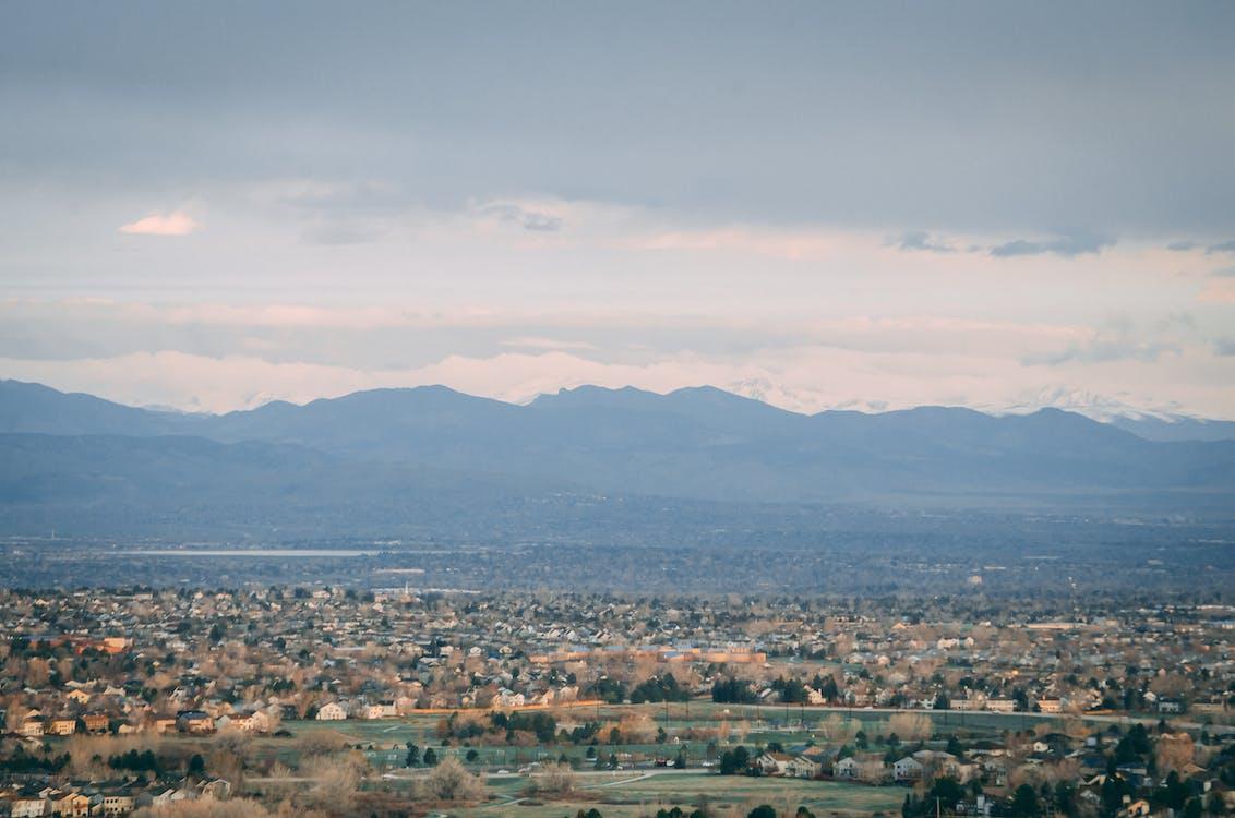 вид на горы, восход, горный хребет
