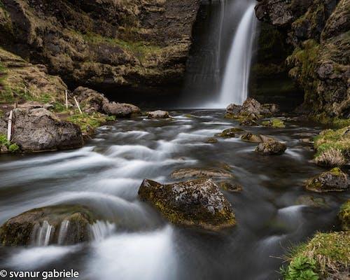 Fotobanka sbezplatnými fotkami na tému Island, longexposure, voda, vodopád