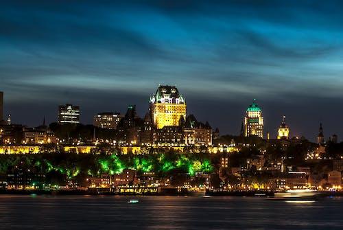Gratis lagerfoto af quebec city om natten