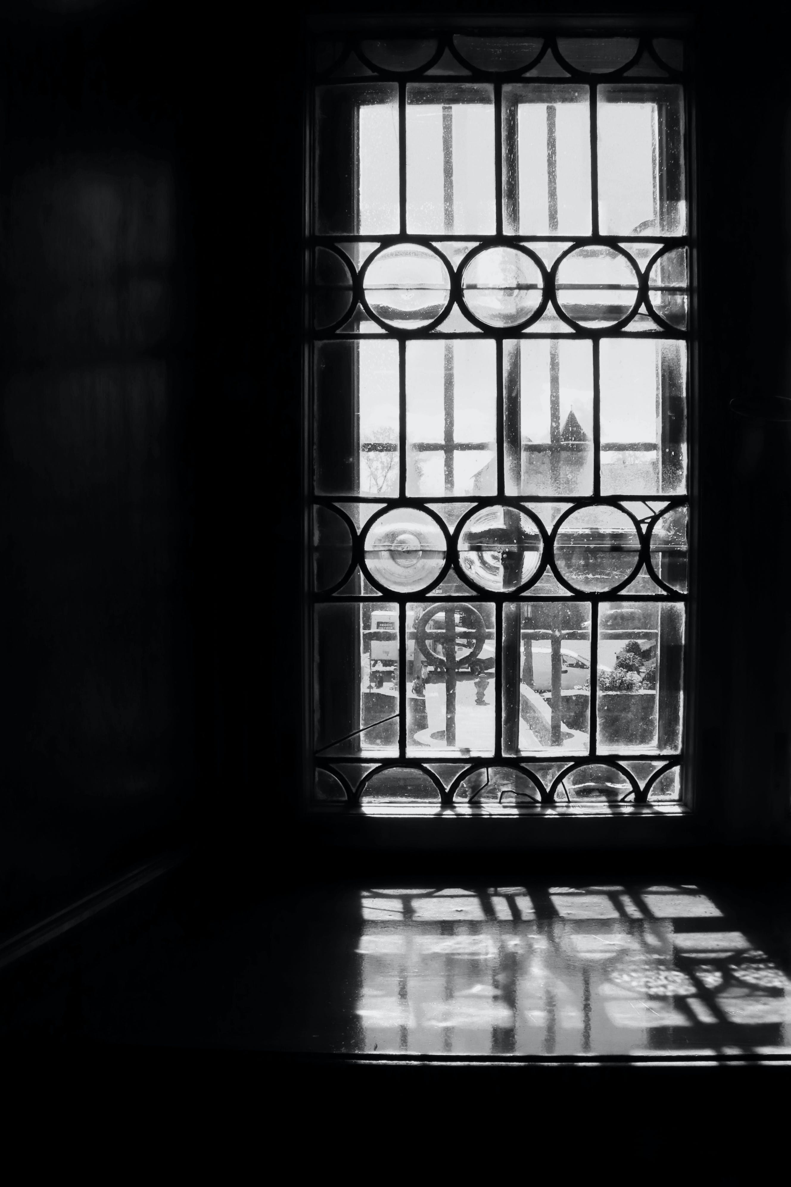 Free stock photo of black and white, castle, medieval, old window
