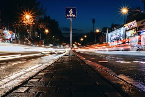 交通系統, 光, 光迹, 城市 的 免費圖庫相片