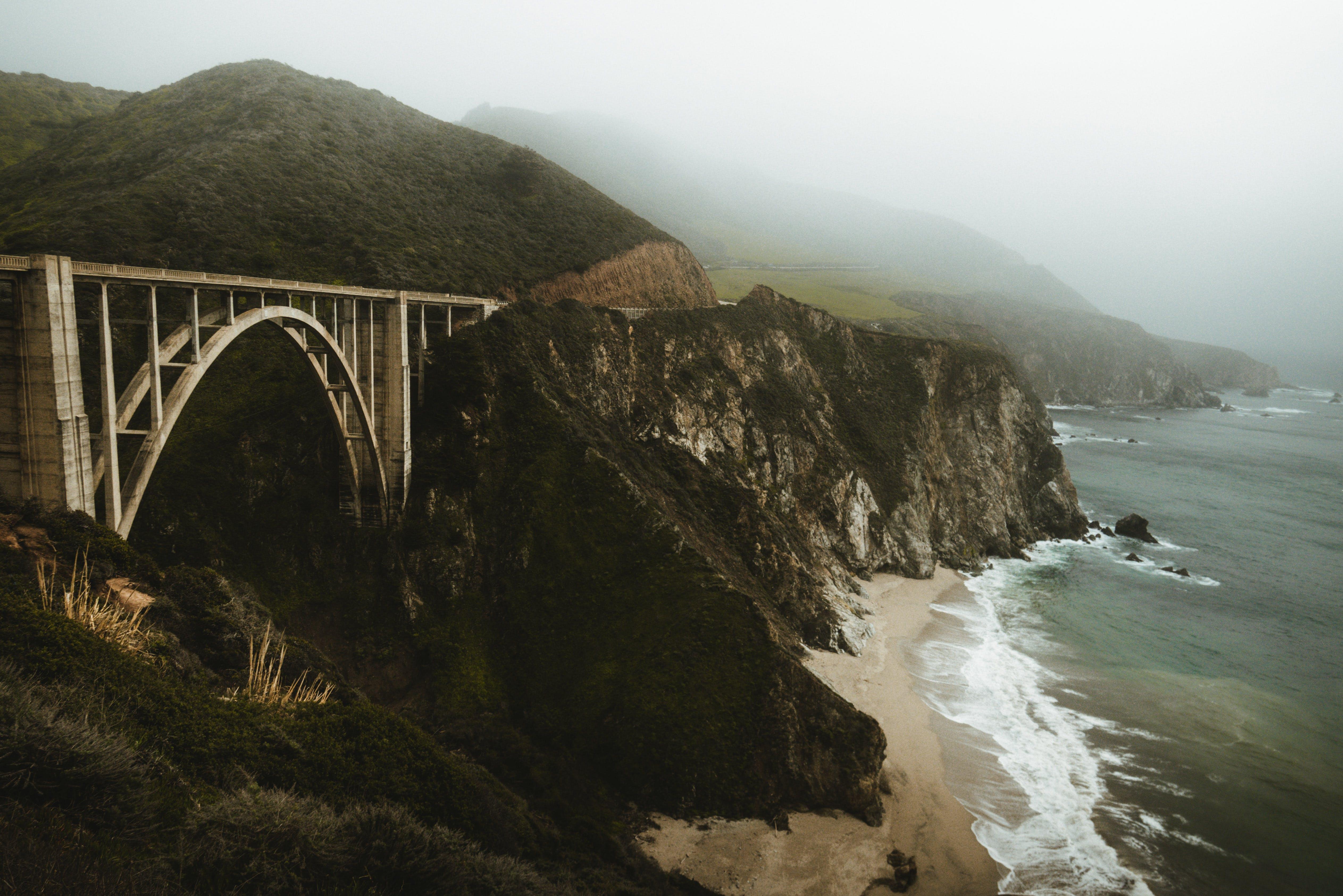 Foto d'estoc gratuïta de boira, Califòrnia, carretera 1, Costa