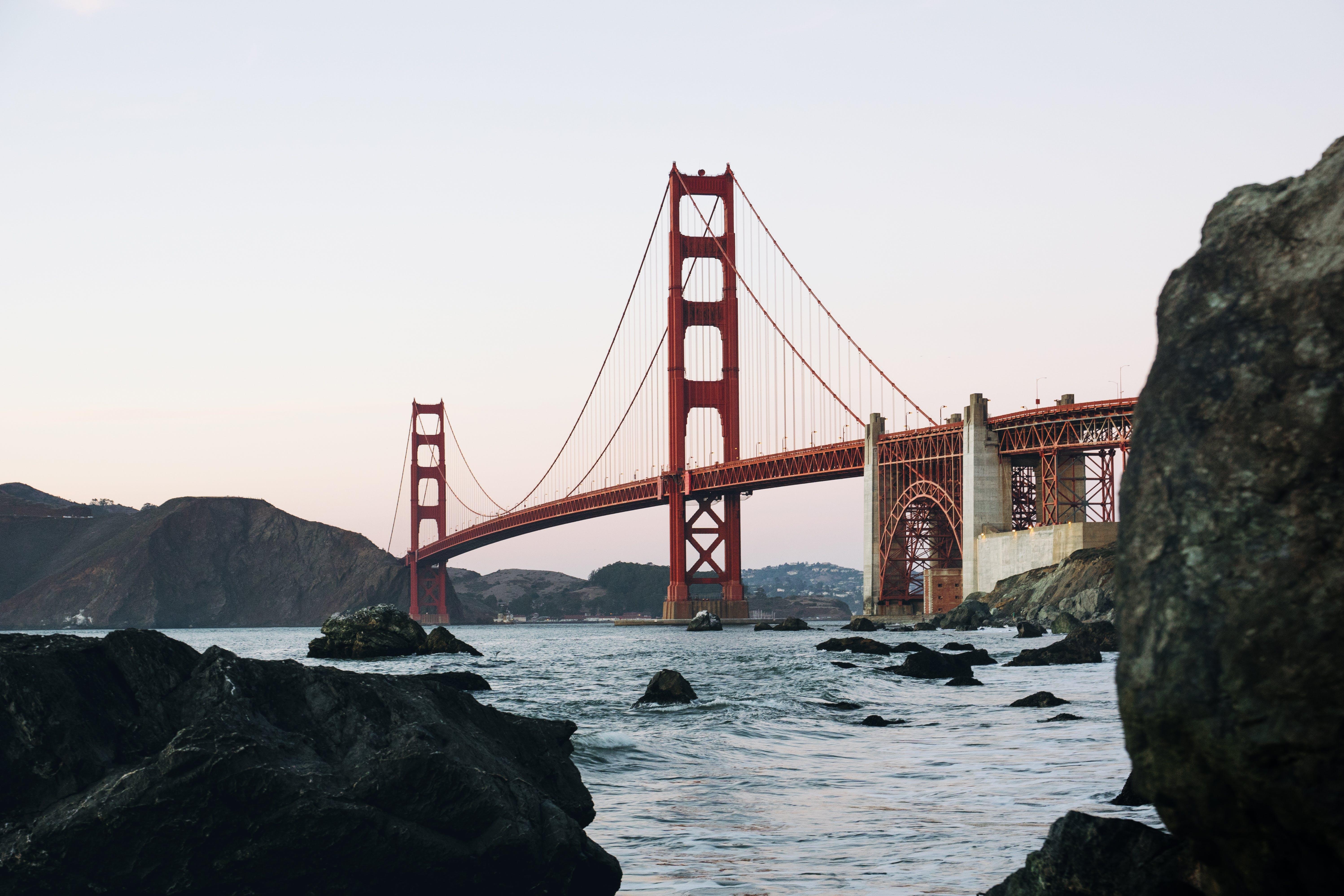 Kostenloses Stock Foto zu architektur, brücke, golden gate bridge, hängebrücke