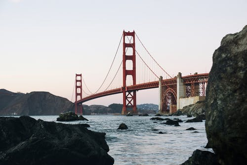 Immagine gratuita di architettura, california, golden gate bridge, iconico