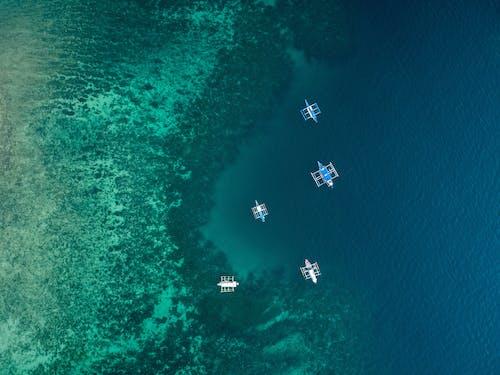Gratis arkivbilde med båter, blå, dronebilde, dronefotografi