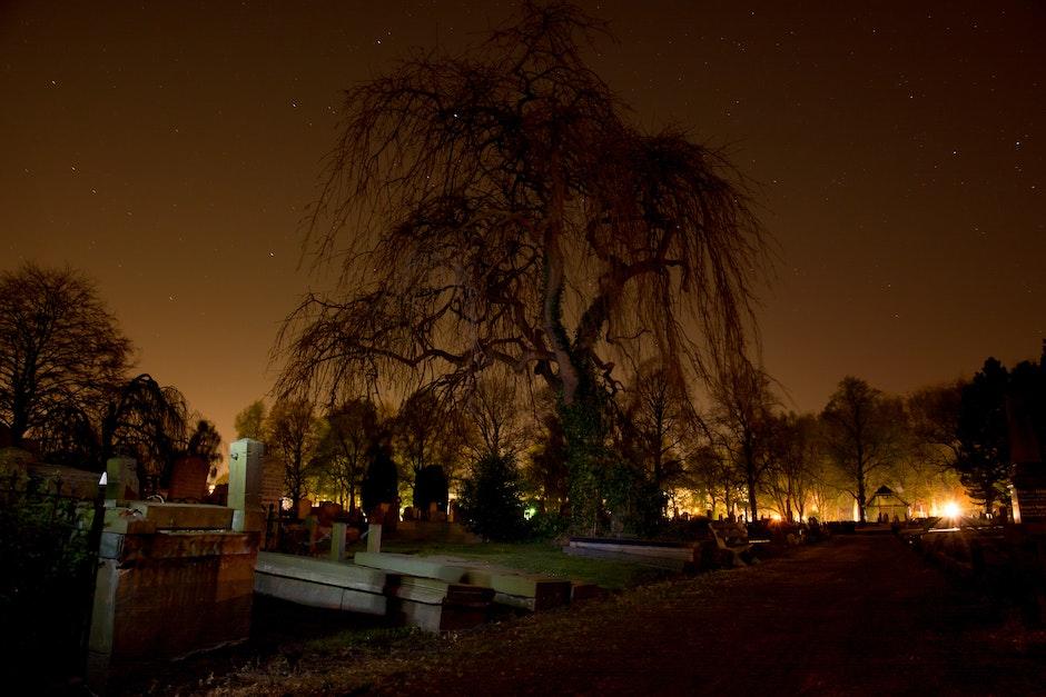 cemetery, dark, graveyard