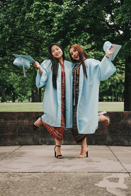 Two Women in Academic Gown