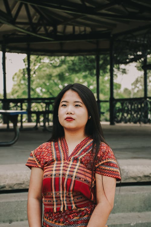 ansiktsuttryck, asiatisk kvinna, dagsljus