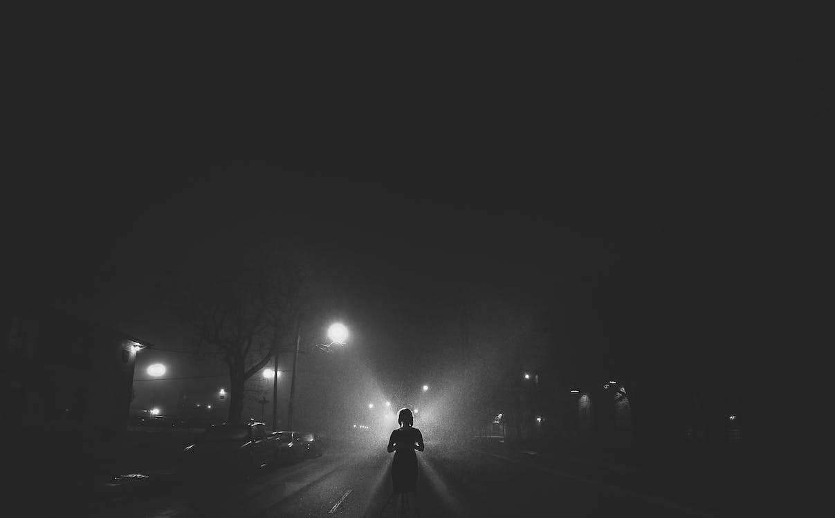 angel, beautiful, city at night
