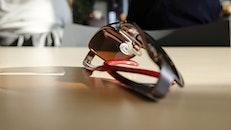 sonnenbrille, tisch, brillen