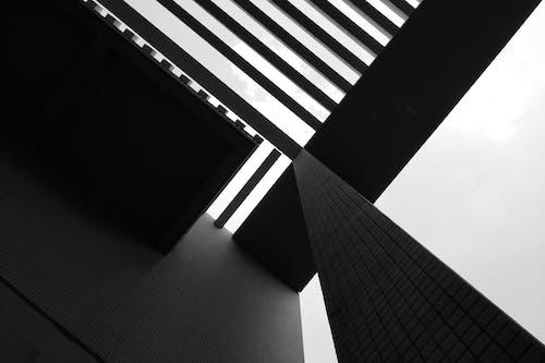 モバイルチャレンジ, 建築, 白黒, 見通しの無料の写真素材