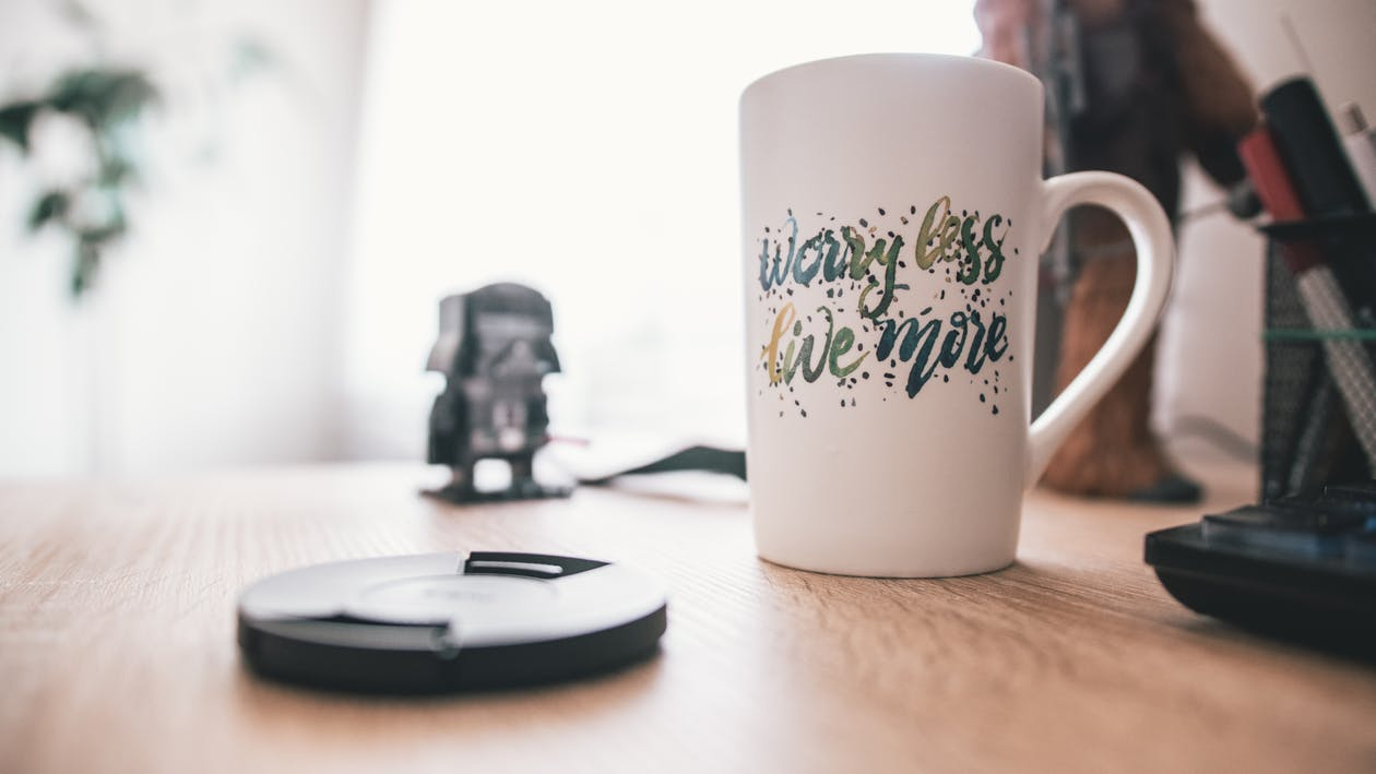 Worry Less, Live More Mug