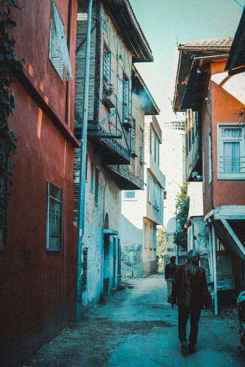 People Walking Near Houses