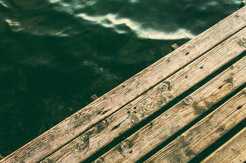 Wooden Dock on Body of Water