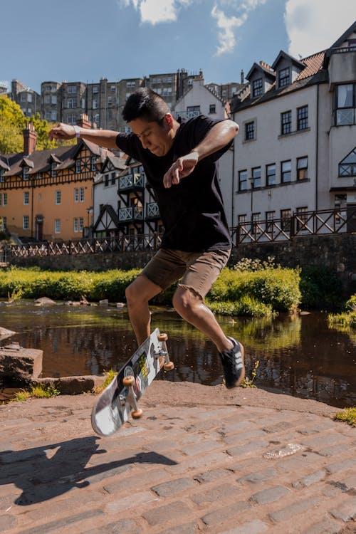 ação, andar de esqueite, andar de skate
