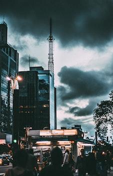 Free stock photo of city, cars, landscape, sunset