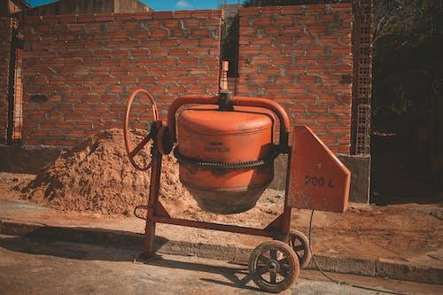 Orange Cement Mixer