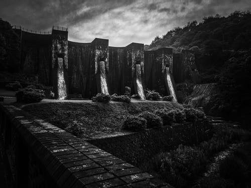 Free stock photo of #nature, black and white, dam, waterfall