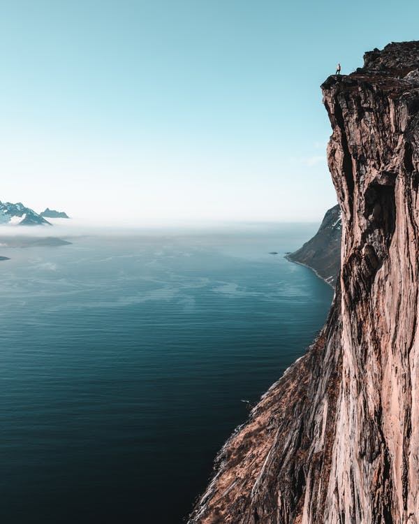 Person On A Cliff