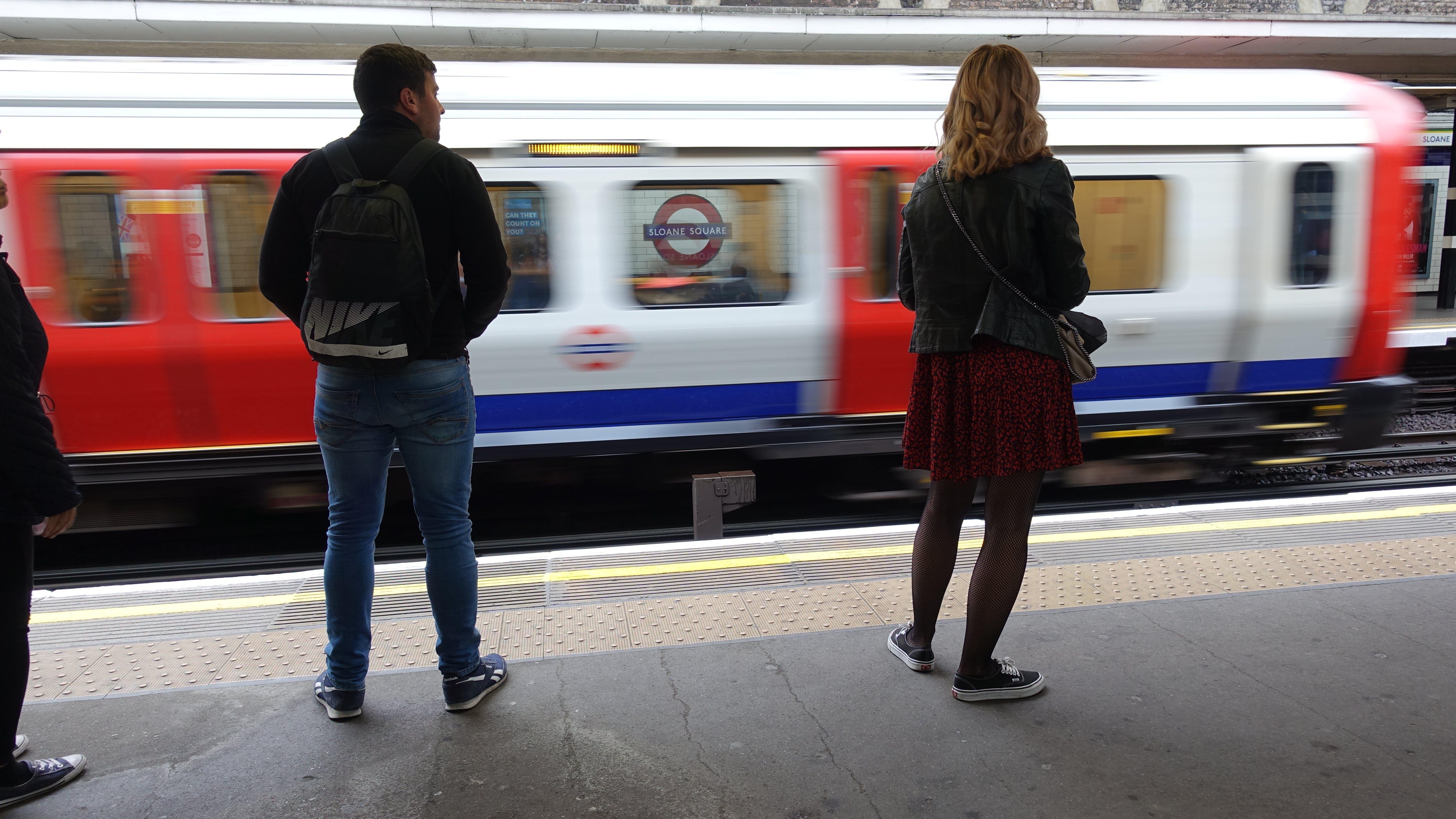 Free stock photo of #girl, miniskirt, subway, subway station