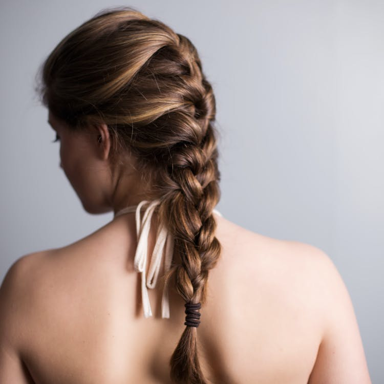 braid, hairstyle, model
