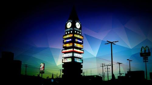 Free stock photo of night, plaza, tower