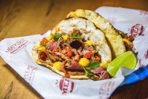 Gratis arkivbilde med balltre, burger, burrito, Fine dining