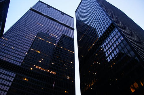 Worm's Eye View Photographie Architecturale D'un Immeuble De Grande Hauteur