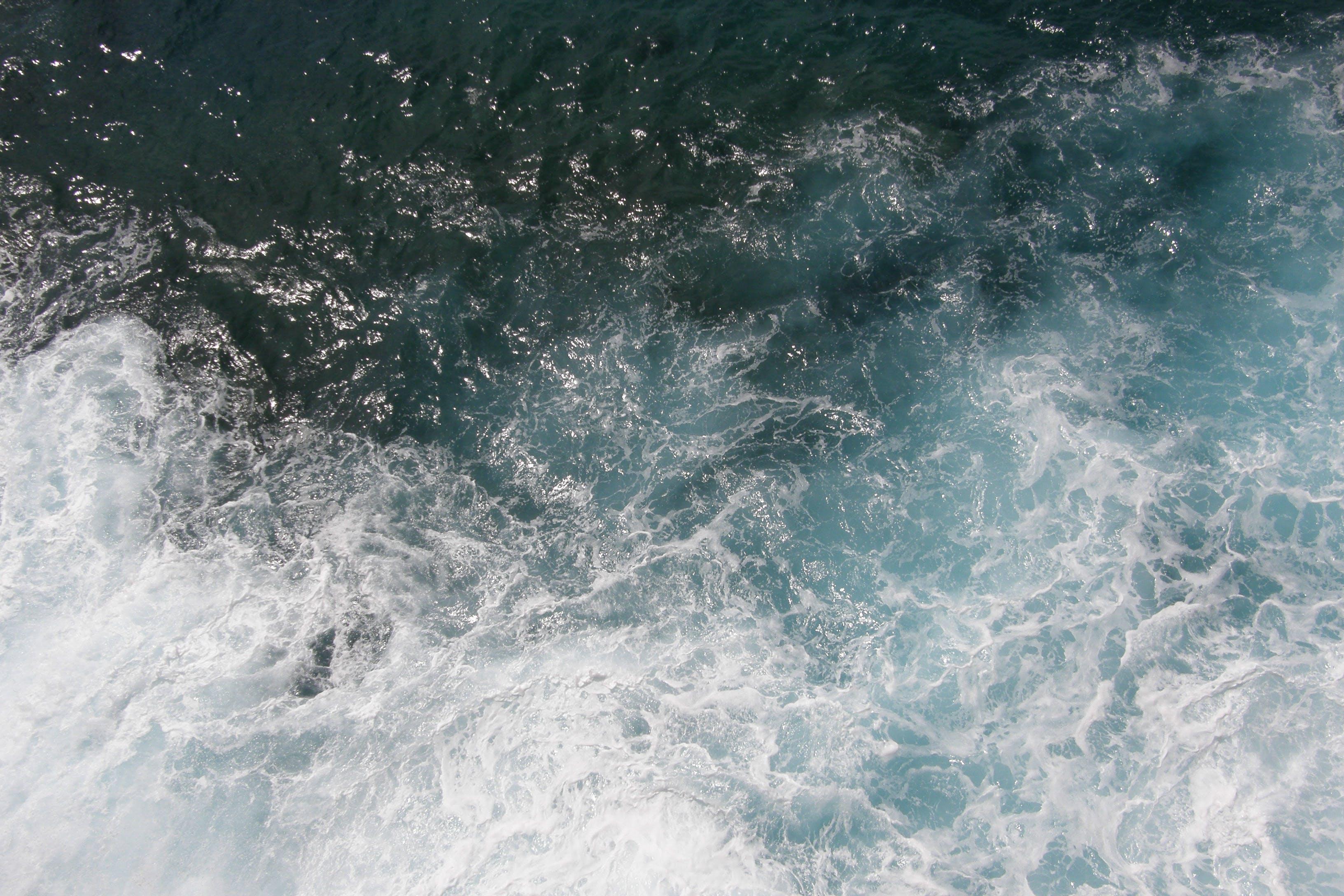 Základová fotografie zdarma na téma letecký snímek, moře, oceán, pěna