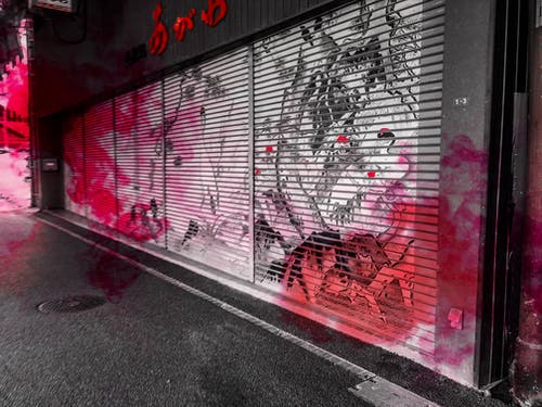 Free stock photo of city, japan, wall art