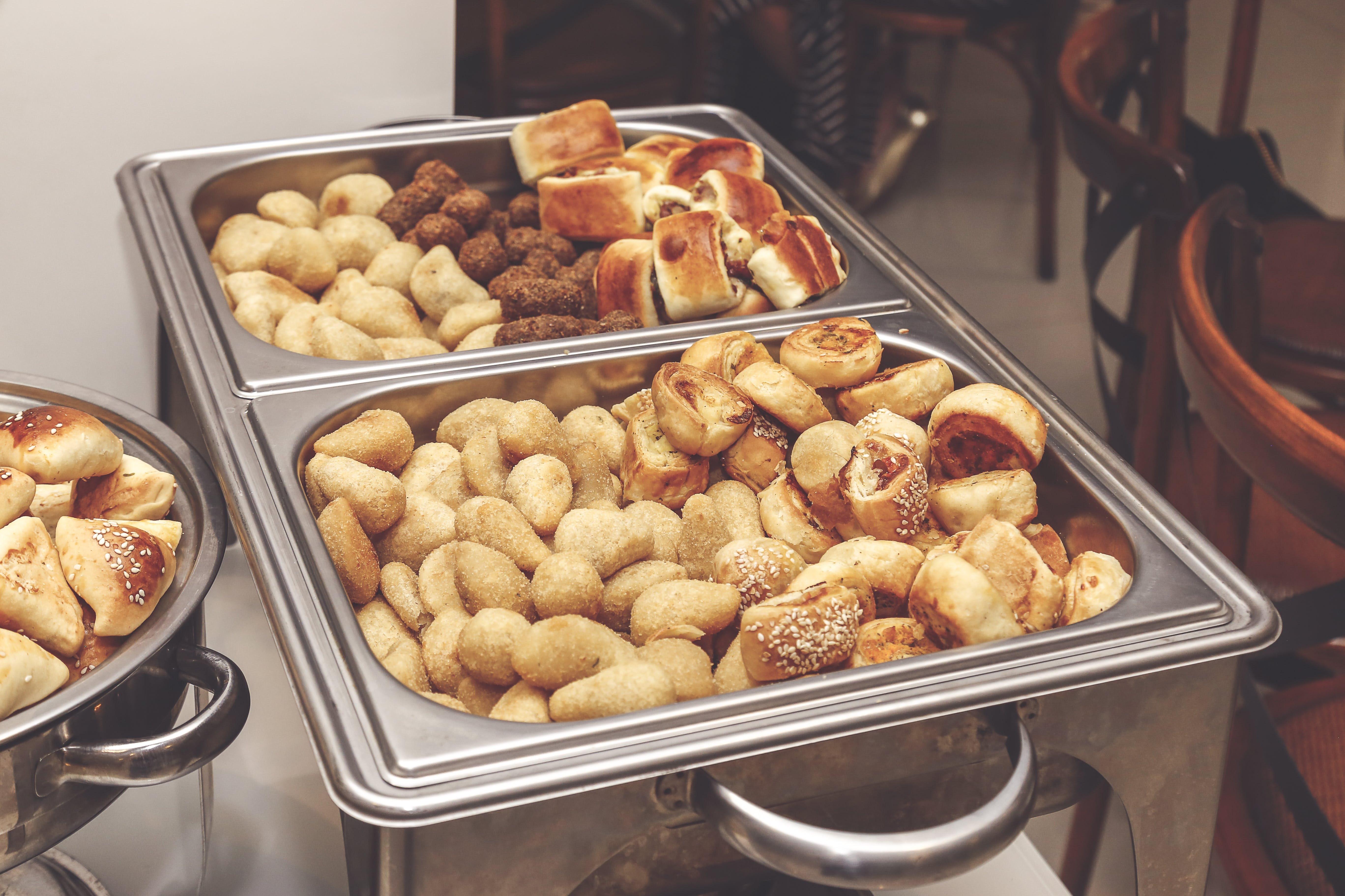 Assorted Pastries On Trays