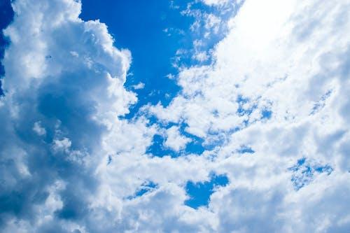 구름, 블루, 태양, 푸른 하늘의 무료 스톡 사진