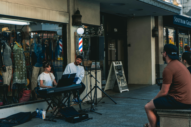 ストリートアーティスト, 大道芸人の無料の写真素材