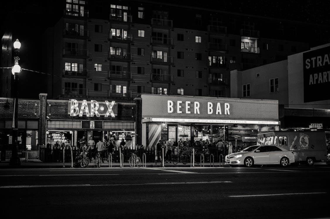 a l'aire lliure, arquitectura, bar