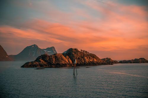 Foto stok gratis air, alam, awan, backlit