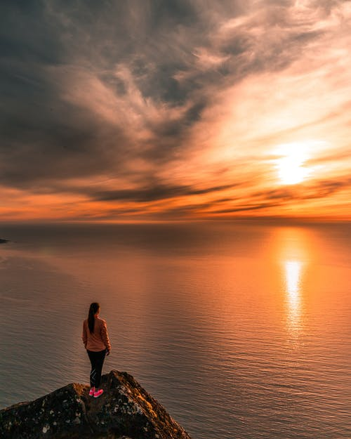 노르웨이, 바다, 사람, 새벽의 무료 스톡 사진