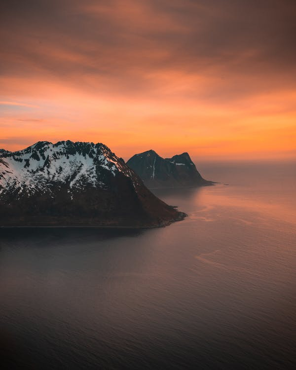 hora, krajina, moře