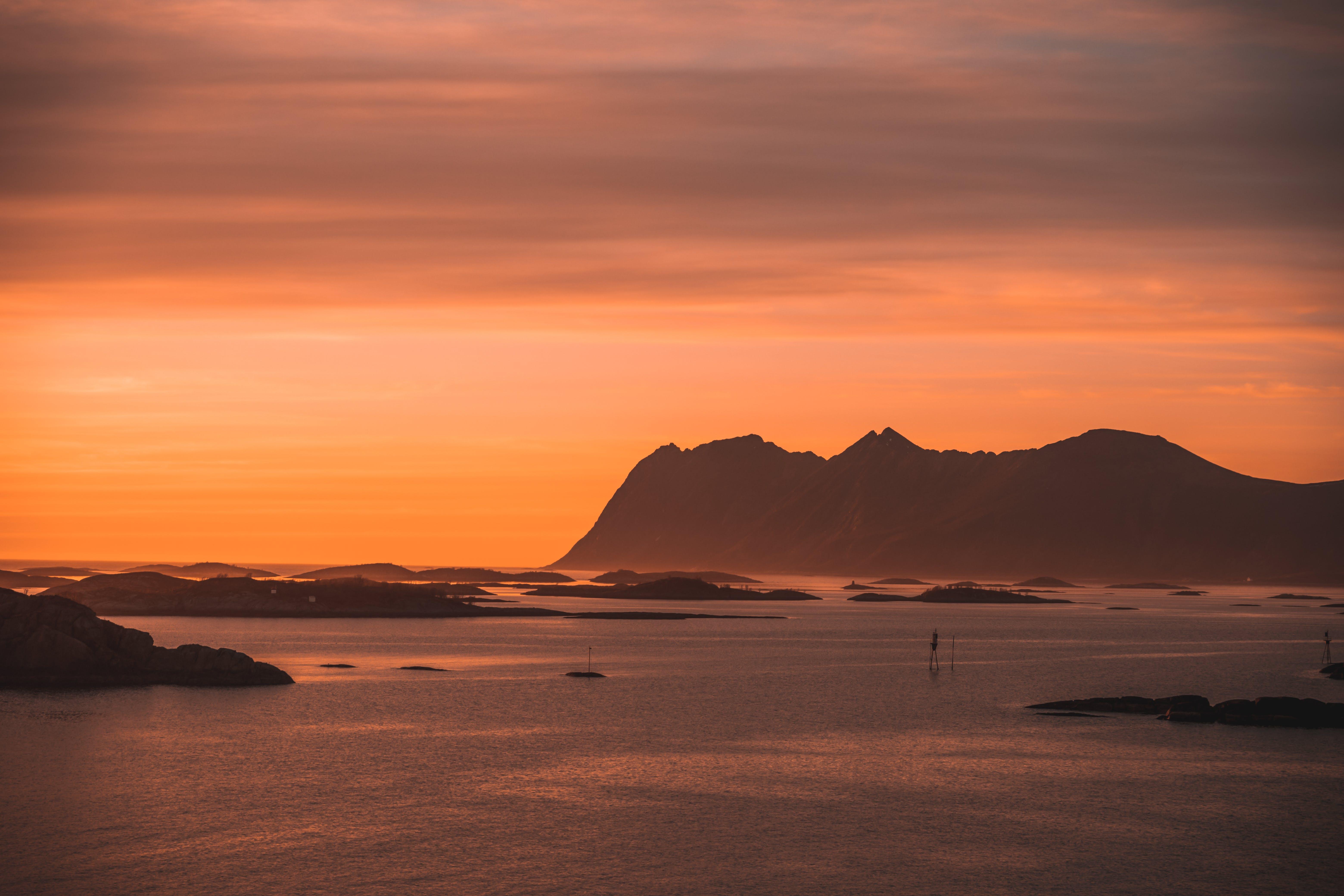 Základová fotografie zdarma na téma mlha, moře, norsko, pobřeží