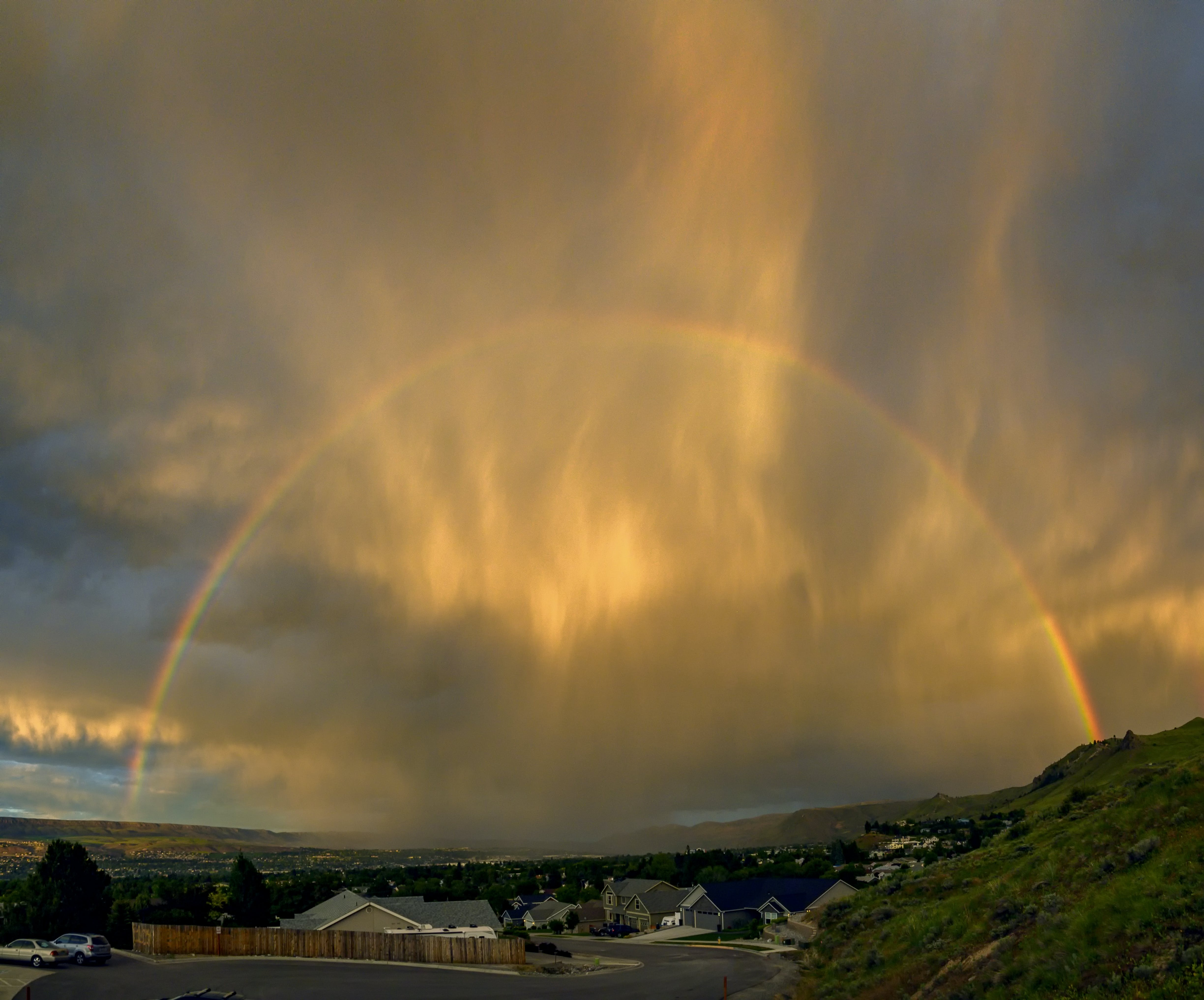 Free stock photo of clouds, rainbow, sky