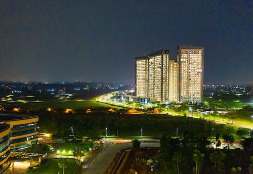 Foto d'estoc gratuïta de a l'aire lliure, arquitectura, cel, cel nocturn
