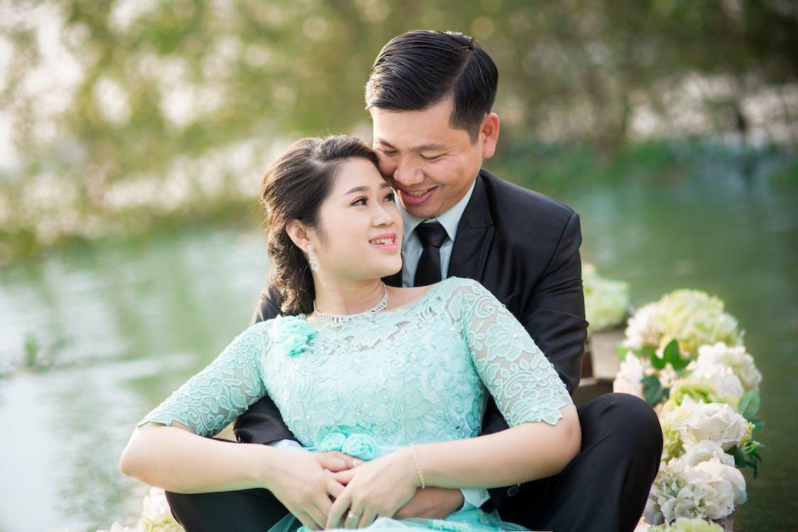 asiatisk par, blomster, dagtimer