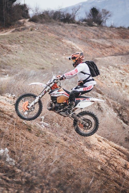 Foto d'estoc gratuïta de bici, carreres de motos, competint, creu