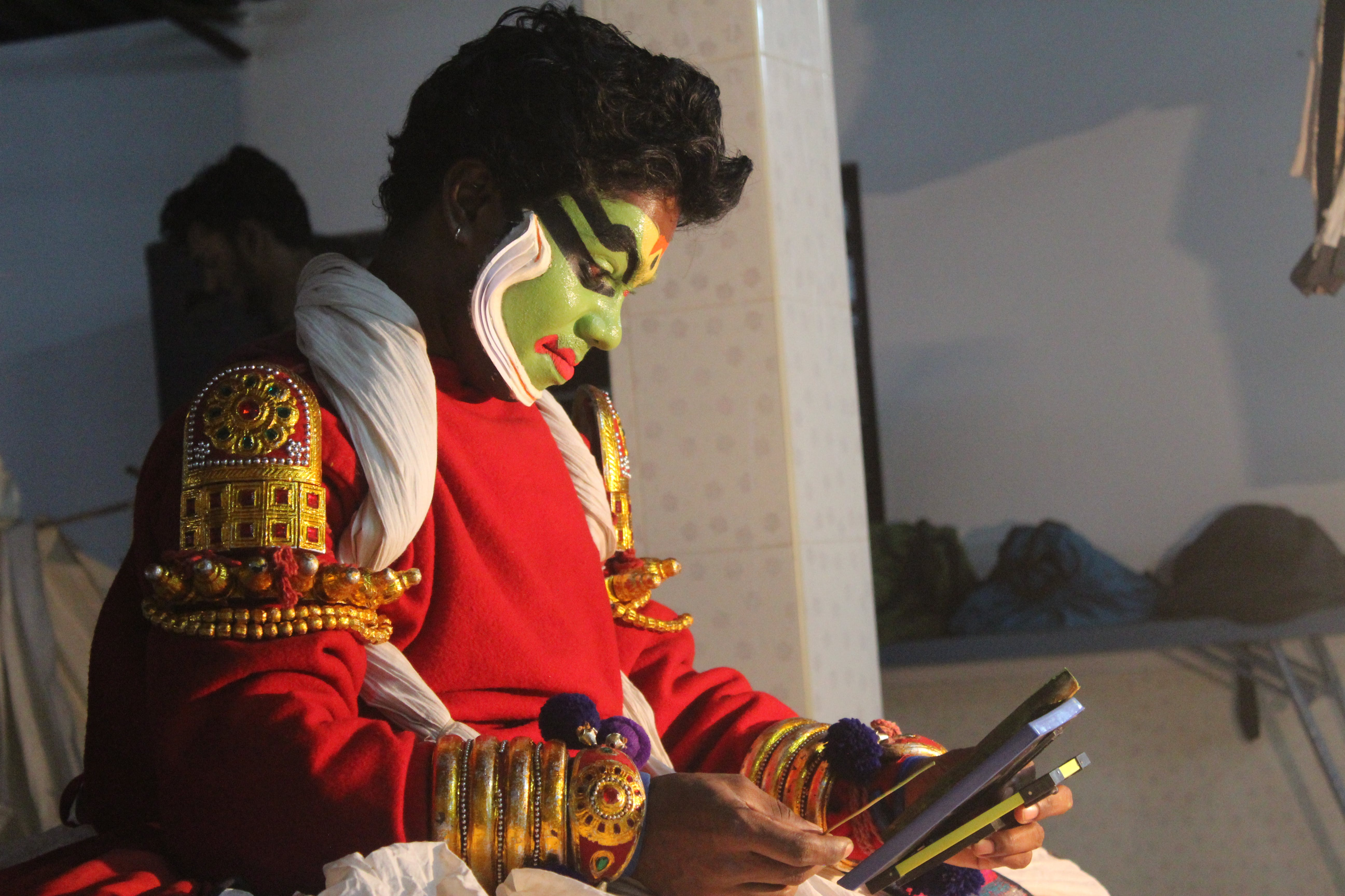 Kostenloses Stock Foto zu kathakali, kathakali schminke, kathakali tanzen, kathakali zieht sich an