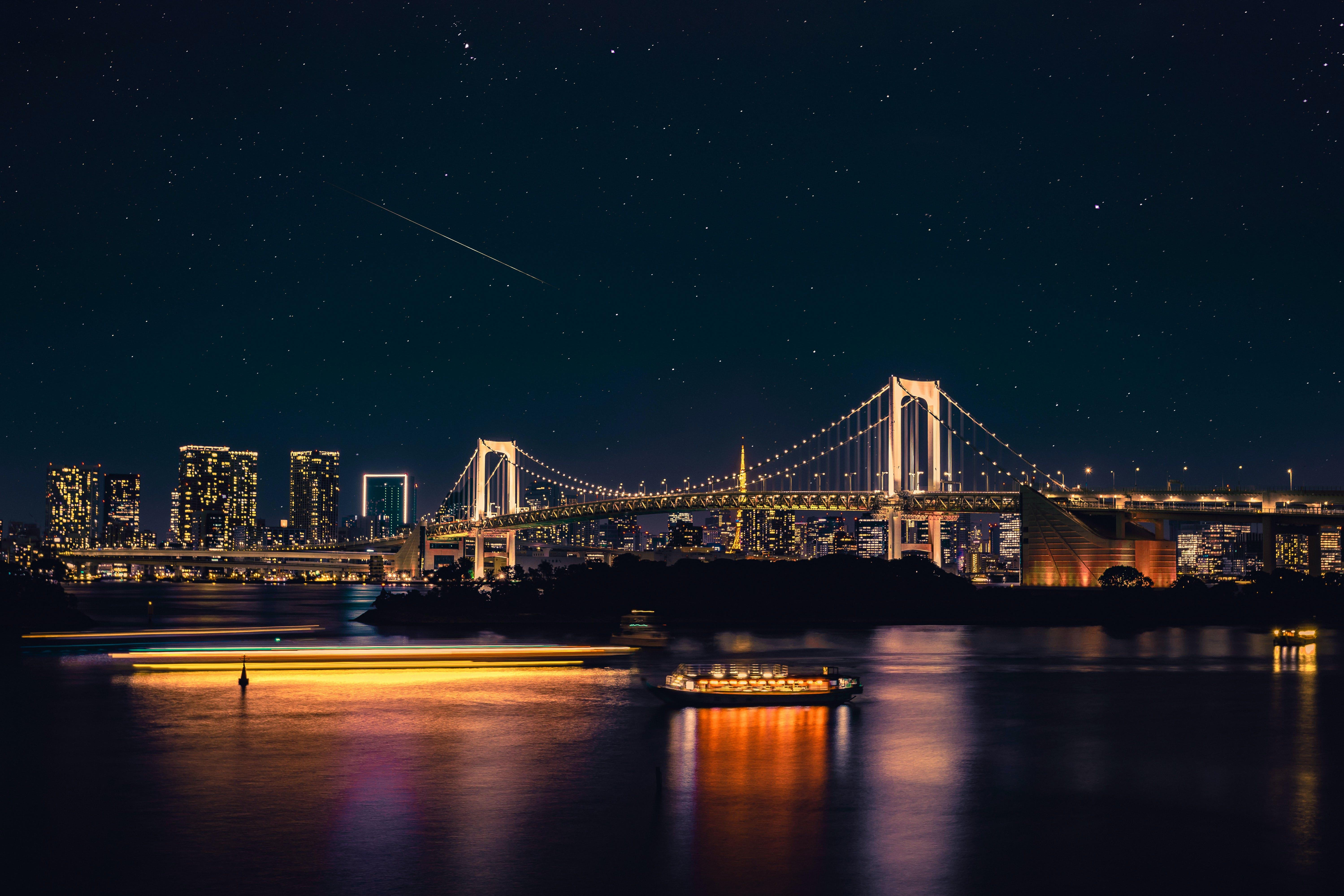 Ảnh lưu trữ miễn phí về ánh sáng, cảnh quan thành phố, cầu, cầu treo