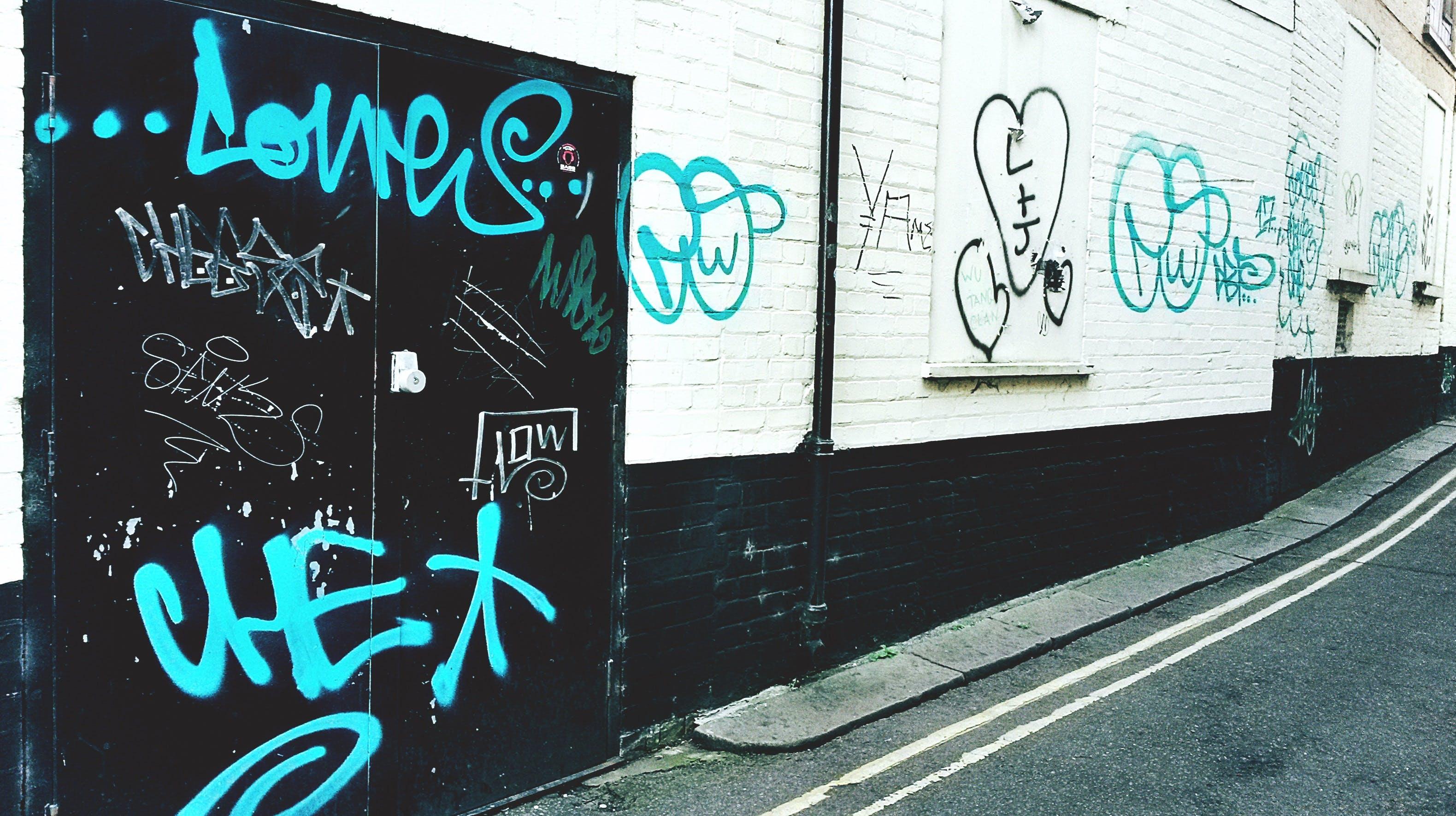 그래피티, 벽, 예술의 무료 스톡 사진