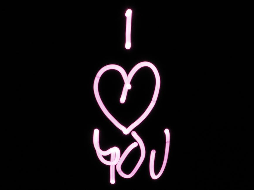 Black and pink i heart you text