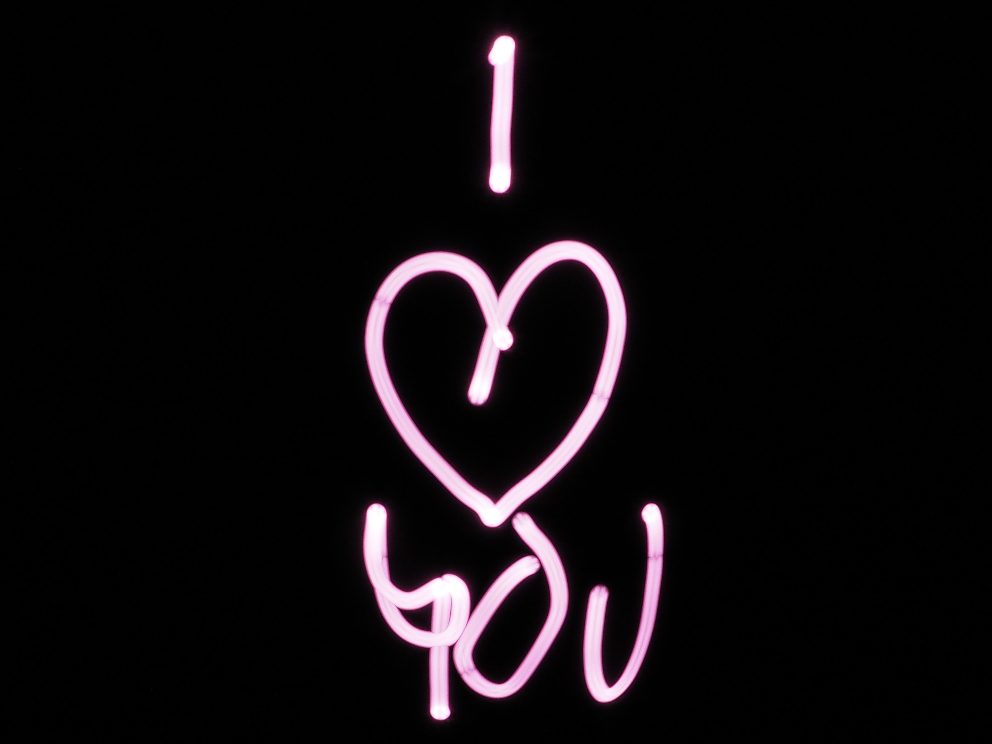 black and pink i heart you text free stock photo